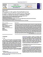 EPA guidance on the quality of mental health services